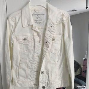 aeropostale white jean jacket